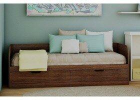 Кровать «Денди» без ручек Дуб Венге